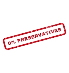 0 percent preservatives text rubber stamp vector