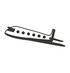 Plane airplane flying icon vector