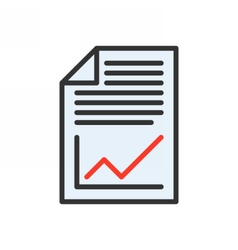 Business Plan Icon vector image