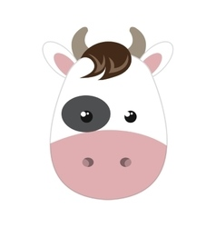 Cow animal cartoon vector