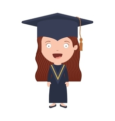 Avatar girl with graduation outfit vector