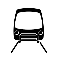 silhouette tram travel public transport urban vector image