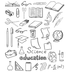 Science and education icons collection vector