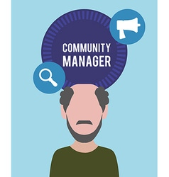 Community manager design vector