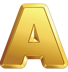 Gold bar letter a vector