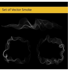 Set of abstract smoke vector