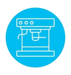 Coffee maker line icon vector