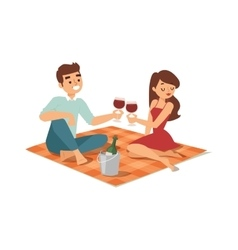 Date flirting boy and girl vector