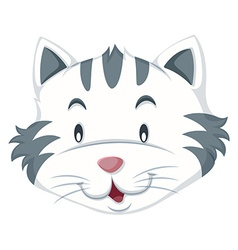 Cat with gray and white fur vector