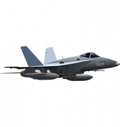 air force combat plane vector image