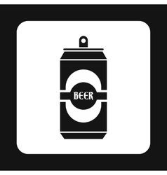 Aluminum beer icon simple style vector