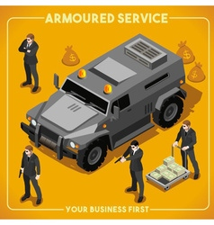 Armoured 02 vehicle isometric vector