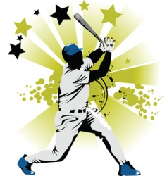 baseball star vector image