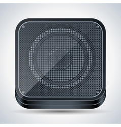Black loudspeaker icon vector