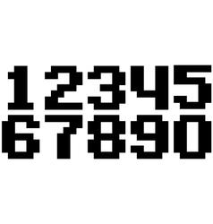 Black pixel number set vector