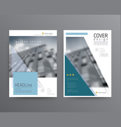 Business template for brochure annual report vector