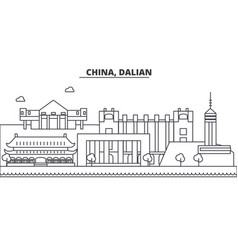 china guilin architecture line skyline vector image