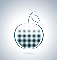 Digital apple vector image vector image