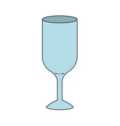 glass wine icon colorful silhouette vector image