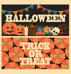 halloween trick or treat on vector image