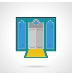 Hotel entrance flat color icon vector