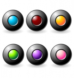 interface buttons set vector image vector image