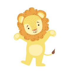 lion cute toy animal with detailed elements part vector image vector image