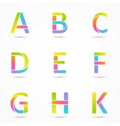 Logo letters a b c d e f g h k company design vector