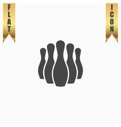 Ninepins flat icon vector image vector image