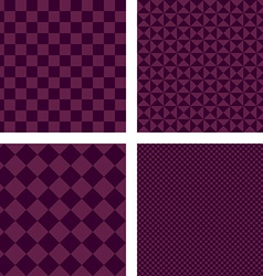 Purple simple geometric shape wallpaper set vector