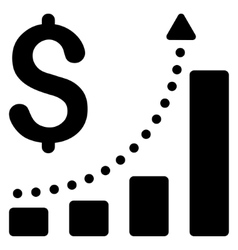 Sales Growth Flat Icon vector image