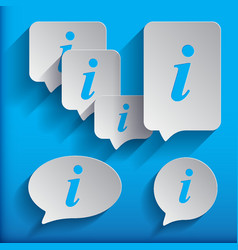 set of six speech information bubbles for design vector image