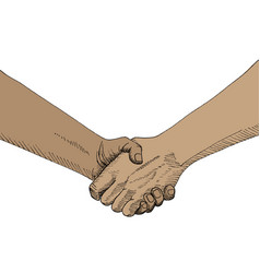 Sketch of handshaking vector