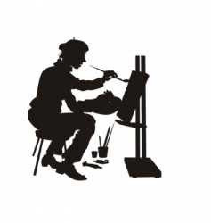 Studio artist vector
