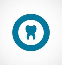 Tooth bold blue border circle icon vector
