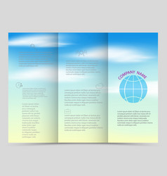 tri-fold brochures square design templates vector image vector image