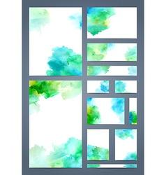 Watercolour design templates vector image