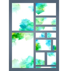 Watercolour design templates vector image vector image