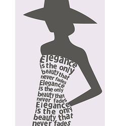 Woman wearing dress made from quote vector