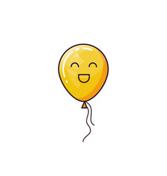 yellow balloon isolated on white background vector image