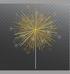Festive bengal light lighting magical fireworks vector