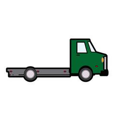 Truck cabin trailer transport wheels motor vector