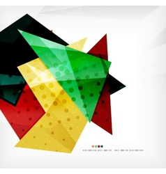 Modern 3d glossy overlapping triangles vector