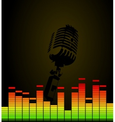 disco microphone vector image