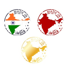 made in India stamp vector image