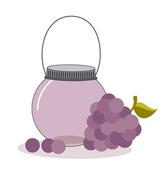 Fruit mason jar vector