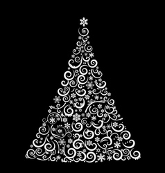 The abstract christmas tree vector