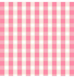 Seamless pink plaid pattern vector