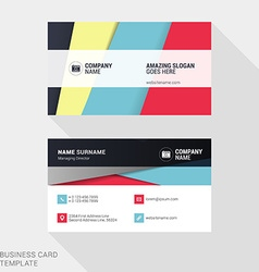 Creative business card print template flat design vector
