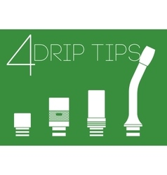 4 drip tips set vector